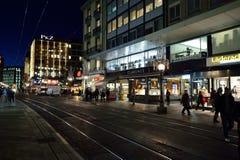 日内瓦晚上 图库摄影
