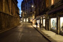 日内瓦晚上 库存图片