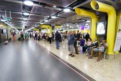 日内瓦机场内部 免版税库存照片