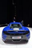 日内瓦汽车展示会的迈凯轮650S  免版税库存图片
