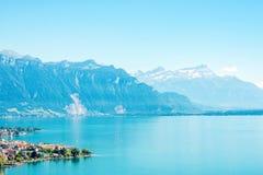 日内瓦湖瑞士 免版税库存照片