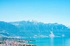日内瓦湖瑞士 免版税图库摄影