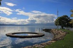 日内瓦湖 库存照片