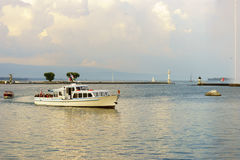 日内瓦湖 免版税库存照片