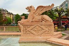 日内瓦狮子瑞士 免版税库存图片