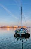 日内瓦都市风景-老帆船II 库存照片