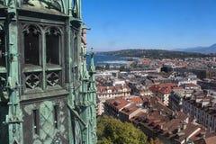 日内瓦,城市的看法从高度的 免版税图库摄影
