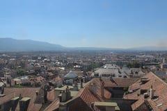 日内瓦,城市的看法从高度的 库存照片
