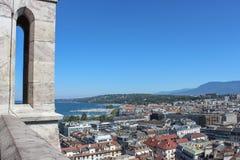 日内瓦,城市的看法从高度的 库存图片