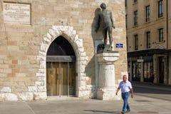 """日内瓦,瑞士†""""2017年8月24日 方形的贝莱尔 免版税库存照片"""