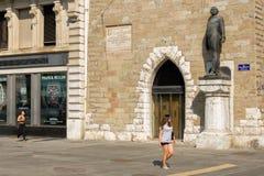"""日内瓦,瑞士†""""2017年8月24日 方形的贝莱尔 库存照片"""