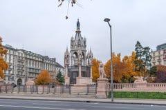 日内瓦,瑞士- 2015年10月30日:布朗斯维克纪念碑和陵墓在日内瓦 免版税图库摄影