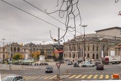 日内瓦,瑞士- 2015年10月30日:街道在市老镇日内瓦 免版税库存图片