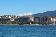 日内瓦,瑞士- 9月14 -堤防 库存照片