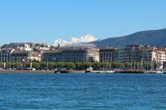 日内瓦,瑞士- 9月14 -堤防 库存图片