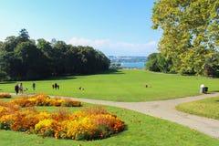 日内瓦,瑞士- 9月07 :公园la农庄,日内瓦,瑞士 2012年9月07日 免版税图库摄影
