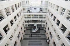 日内瓦, 2017年10月27日,瑞士-日内瓦大学图书馆  免版税库存照片