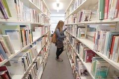 日内瓦, 2017年10月27日,瑞士-日内瓦大学图书馆  图库摄影