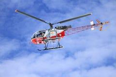 空冰川直升机,瑞士 免版税图库摄影