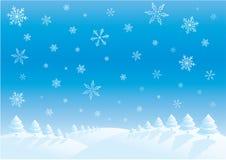 日冬天 向量例证