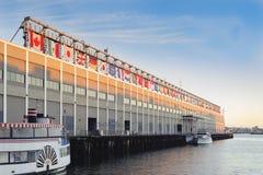 日出世界贸易中心波士顿 库存照片
