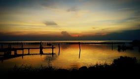 日出印地安河FL 免版税图库摄影