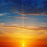 日出和天空 免版税库存照片