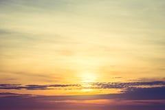 日出和天空 免版税库存图片