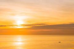 日出和海 库存照片