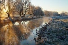 日出在一个冬天早晨 免版税图库摄影