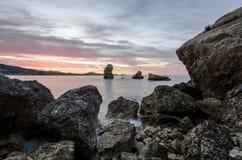 日出在伊维萨岛 免版税库存照片