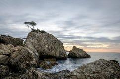 日出在伊维萨岛 图库摄影