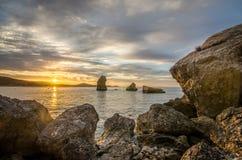 日出在伊维萨岛 免版税库存图片