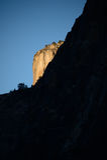 日出在优胜美地瀑布 图库摄影
