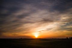 日出在内布拉斯加Sandhills 免版税库存照片