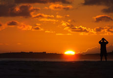 日出在加勒比 库存图片