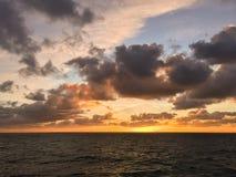 日出在北海 免版税库存照片