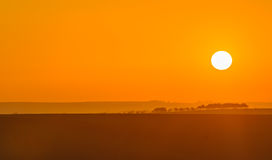 日出在南摩拉维亚 图库摄影