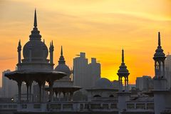 日出在吉隆坡 免版税库存照片