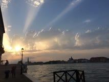 日出在威尼斯, Venezia,意大利 免版税库存照片