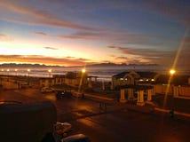 日出在开普敦南部的海 免版税库存照片
