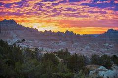 日出在恶地国家公园 免版税库存照片