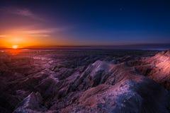 日出在恶地国家公园 免版税库存图片