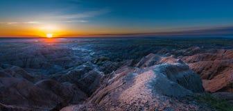 日出在恶地国家公园 库存图片