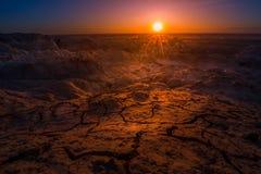 日出在恶地国家公园 图库摄影