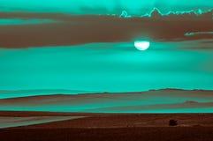 日出在扬博尔,保加利亚 免版税库存图片