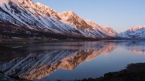 日出在挪威 库存图片
