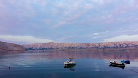 日出在海湾的时间间隔在克罗地亚, Pag海岛  股票录像