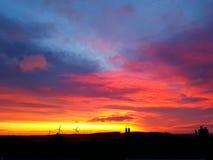 日出在秋天 免版税库存照片