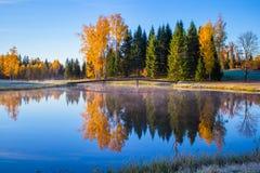 日出在秋天 免版税库存图片